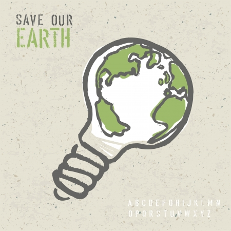 save environment: Global ecology concept.