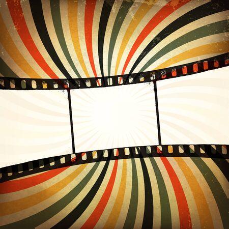 Grunge film strip background. photo