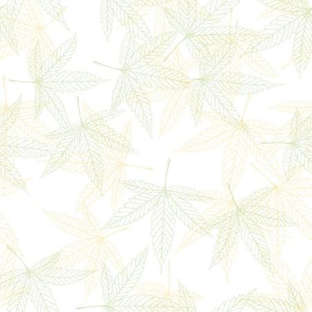 Hemp leaves seamless pattern photo