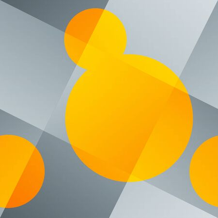 Seamless abstract background with woven backdrop and orange round shapes  Stock Photo - 14707157