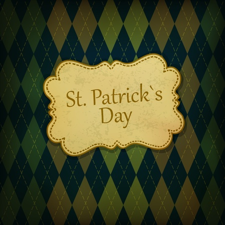 St. Patrick holiday greeting card.  photo