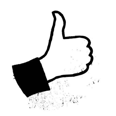 Thumb up grunge icon. Stock Photo - 14707145