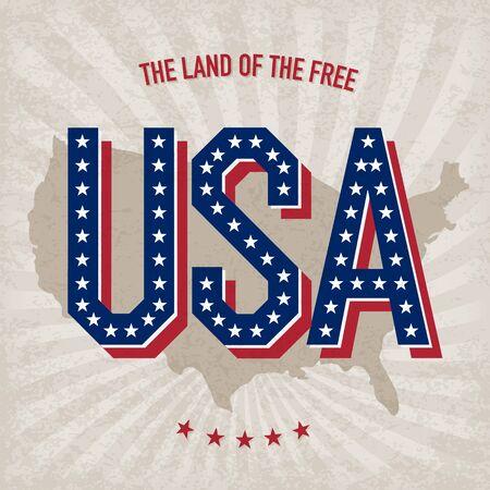 USA abstract poster design  photo