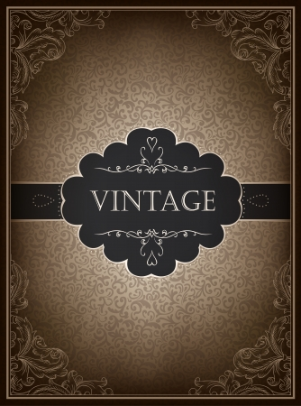Vintage card design template photo