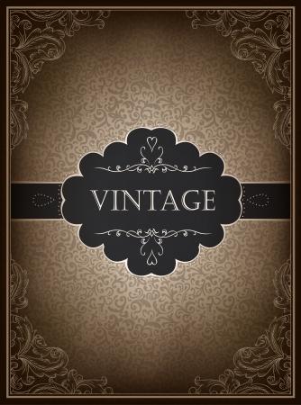 decorates: Vintage card design template