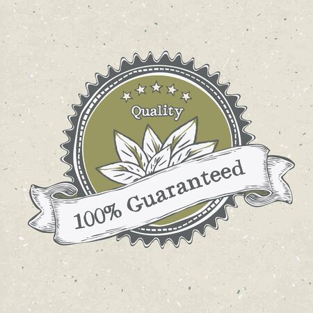 Vintage label organic products  Stock Photo - 14709036