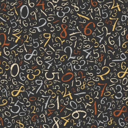 numerical: Abstract mathematics background  Color figures seamless pattern   Illustration