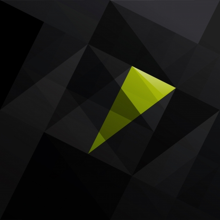 patch of light: Abstract triangle black background   illustration  Illustration