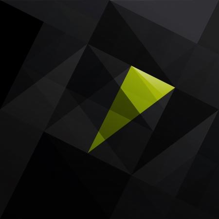 patch of light: Astratto triangolo nero sfondo illustrazione Vettoriali