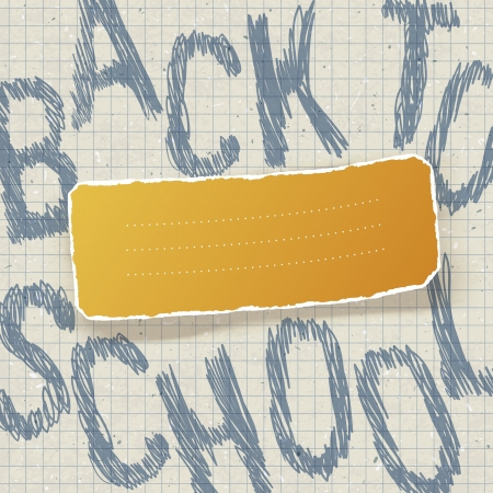 Back to school  Education themed abstract background,  Vector
