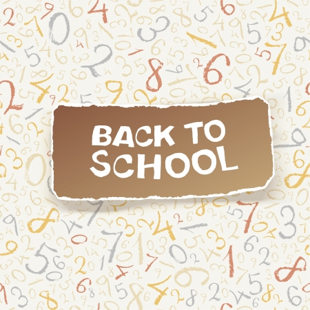 Back to school on chaotic numbers seamless pattern  Vector