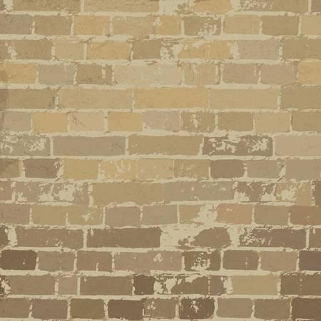 Beige brick wall texture  Vector, EPS10 Vector