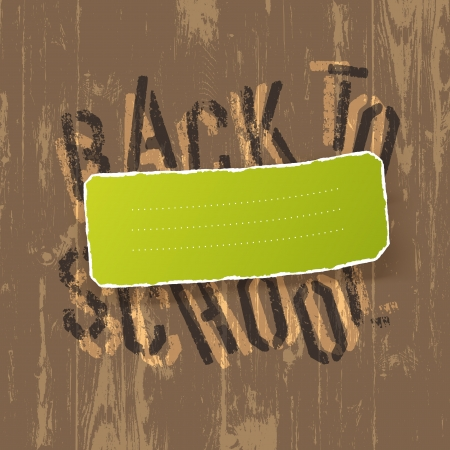 Educational background  Back to school and green label for text    Vector