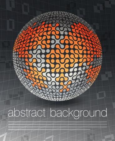imaginary line: Global business concept poster design, vector illustration, EPS10 Illustration