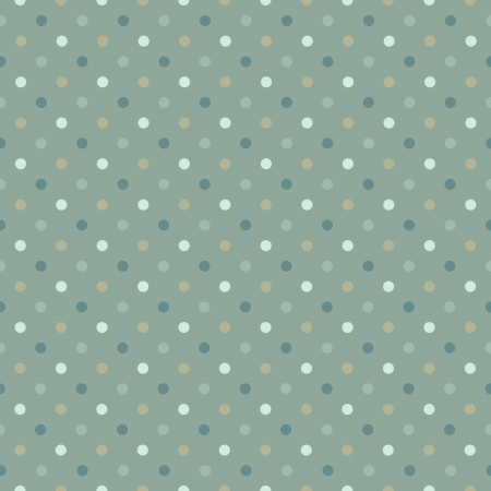 Seamless polka dot pattern in cold green gamut  illustration  Vector
