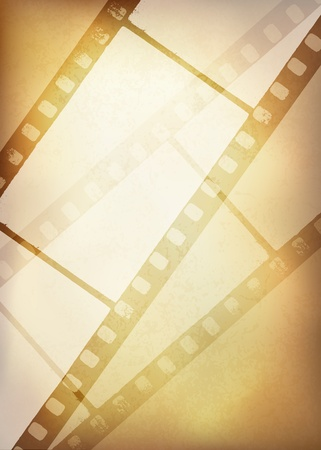 Vintage film strip background,  Vector