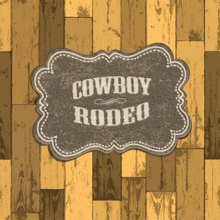 rodeo: Wild west background on seamless wooden texture  Illustration