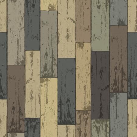 materia prima: De madera de varios colores tablones Patrón sin fisuras, Vectores