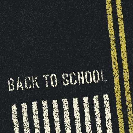 alphabet kids: Back to school  Road safety concept