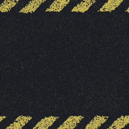 소요: 위험 노란색 라인 배경