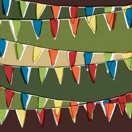 Party pennant bunting  Happy holiday background  Vector