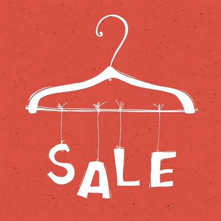 shirts on hangers: Sale concept vector illustration. EPS10 Illustration