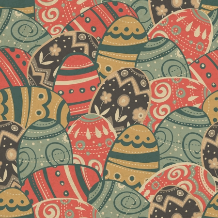 Seamless easter eggs pattern Stock Vector - 14895077