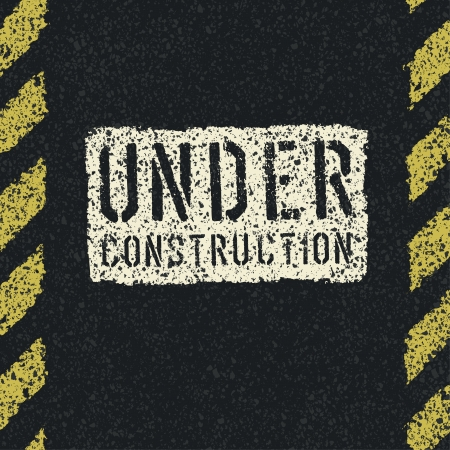 under construction sign: Under construction sign background.  Illustration
