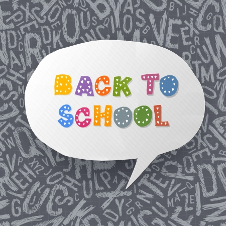 secondary education: Back to school abstract background