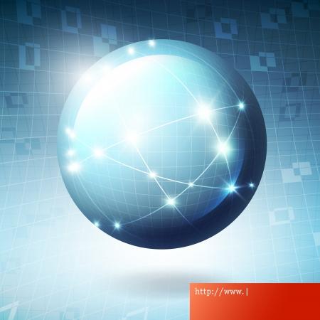 Globe information network concept illustration  Illusztráció
