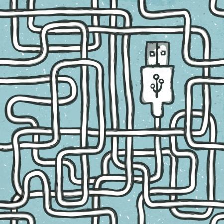 seamlessly: Senza soluzione di continuit� filo aggrovigliato di dispositivi elettronici portatili