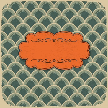Vintage scale pattern with retro label Stock Vector - 15157355