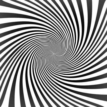 radiate: Black twisted lines on white with tunnel effect