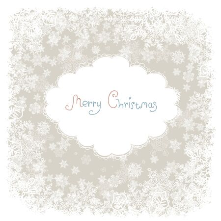 joyeux: Vintage Christmas card with the wishes   Vector illustration, EPS8