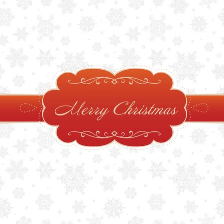 ice sheet: Merry christmas greeting card on white background with snowflakes pattern  Vector illustration, EPS8