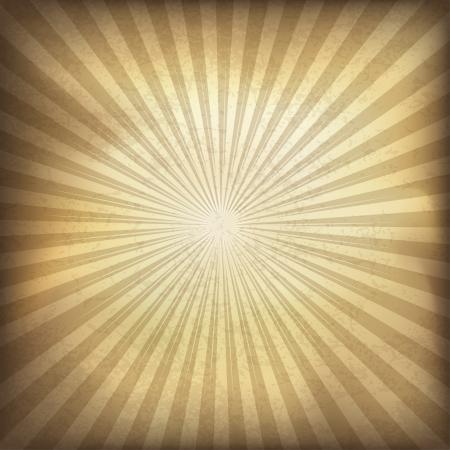 Retro brown sunburst background  Vector illustration, EPS10  Illusztráció