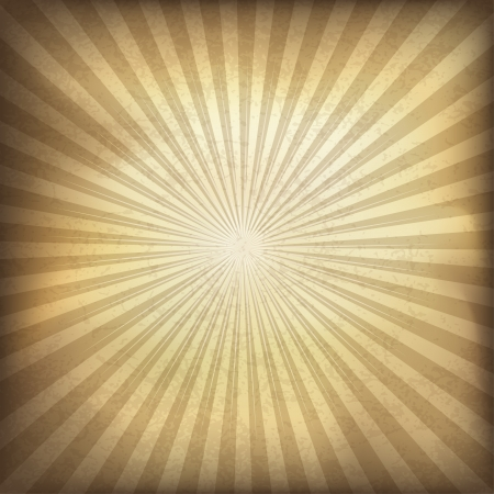 Retro brown sunburst background  Vector illustration, EPS10  Vector