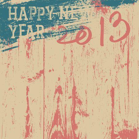 2013 New Year background retro styled. photo