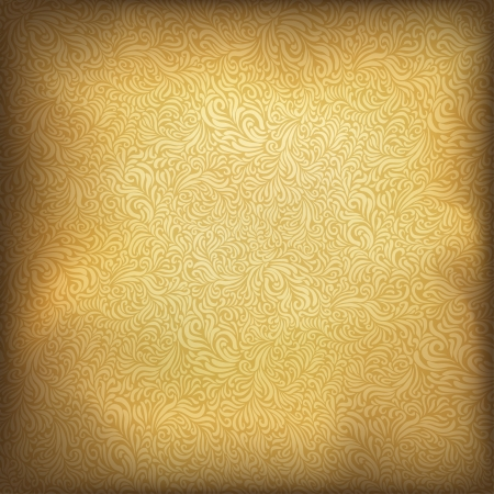 Golden vintage background. Stock Photo