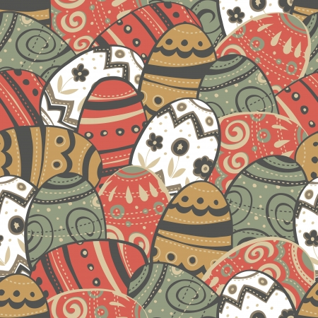 Seamless easter eggs pattern. Vector