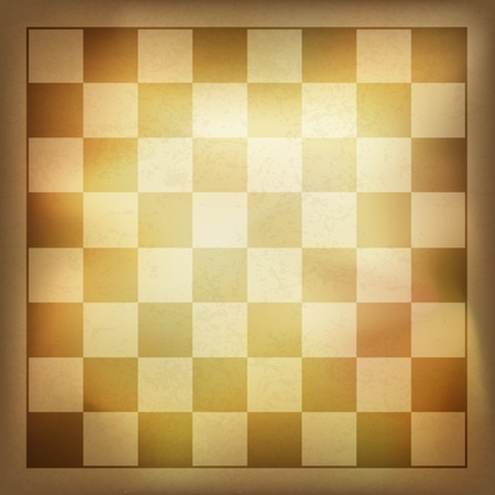 Grunge vintage chess background. Vector