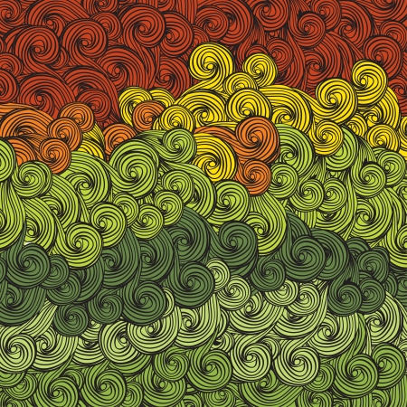 wave pattern: Abstract multi-colored waves pattern. Vector, EPS8 Illustration