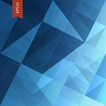 Abstrakt Dreiecke blauem Hintergrund. Vector, EPS10