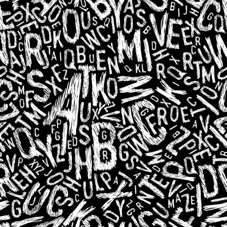 Alphabet seamless pattern. Vector, EPS10 Illusztráció
