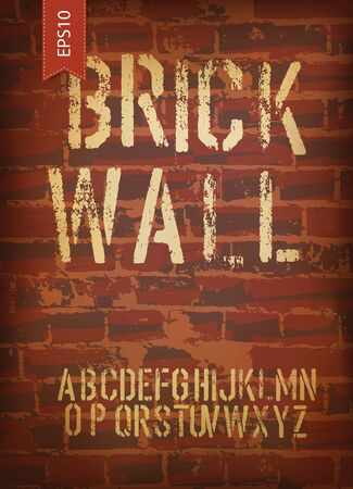 Brick wall design template. Vector, EPS10  Vector