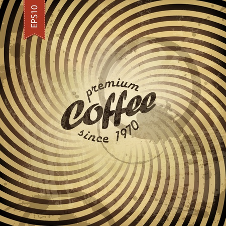 Coffee grunge retro background. Vector, EPS10 Illustration