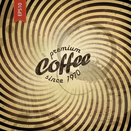 Coffee grunge retro background. Vector, EPS10 Illustration