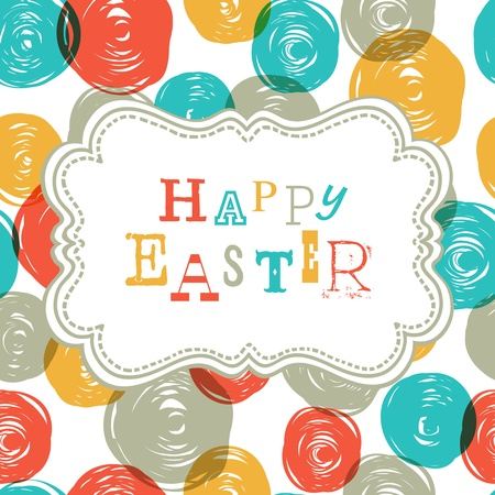 Colorful Happy Easter Card Design. Vector, EPS10 Vector