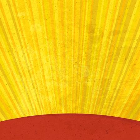 Grunge sunrays aged background. Vector, EPS10