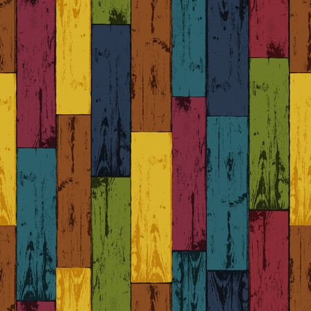 Colorful wooden background. Vector, EPS10 Stock Vector - 18586304